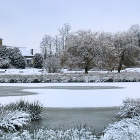 Godalming Parish Church in the snow