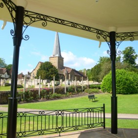Godalming Parish Church from the Bandstand
