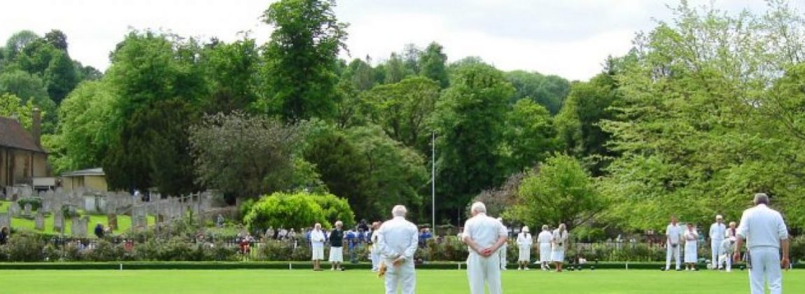 Bowling with Parish Church in background, Godalming