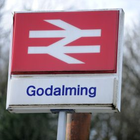 Godalming Station Sign Photo courtesy of Darren Pepe 2016