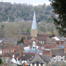View of Godalming from St Edmunds Steps Photo courtesy of Darren Pepe 2016