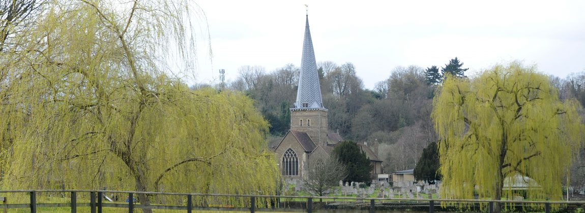 Godalming Parish Church & Willow Trees