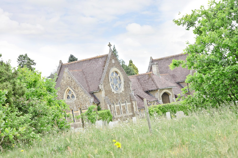 Eashing Cemetery - View of the Chapel from the Natural Burial Area