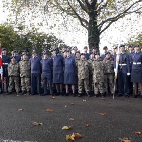 1254 (Godalming) Air Training Corps on Parade for Godalming Remembrance 2019
