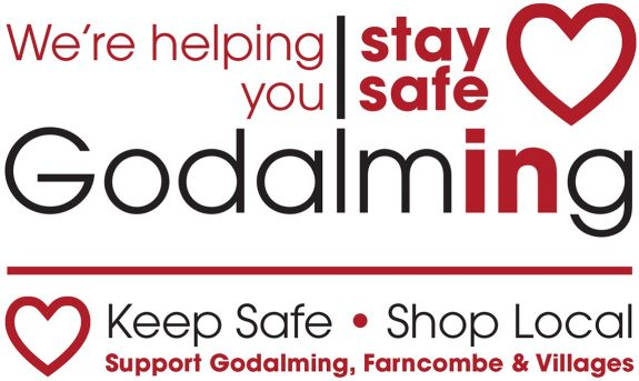 Godalming Town Council's Helping You Stay Safe Logo