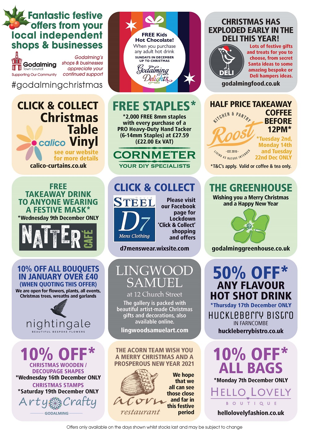 Fantastic festive offers from your local independent shops and businesses